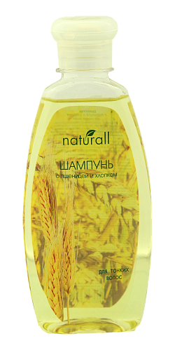 Shampoo with wheat and cotton for fine hair