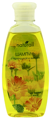 Shampoo with calendula and hops for oily hair
