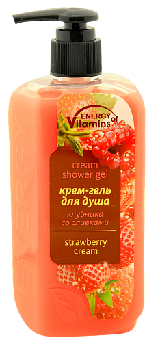 "Cream-shower gel ""Strawberry with cream"""