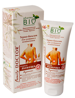 Thermo-balm for joints and spinal column