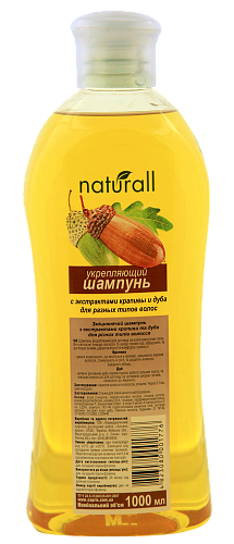 Fortifying shampoo with extracts of nettle and oak for different hair types