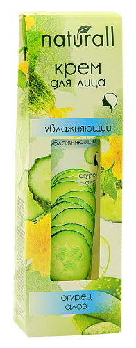 Moisturizing face cream aloe and cucumber