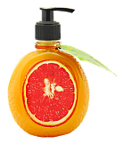 Gel-soap softening with grapefruit extract
